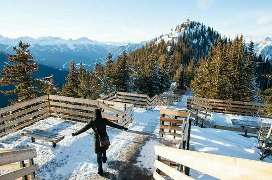 Banff Gondola: Vista linda de cima na montanha.