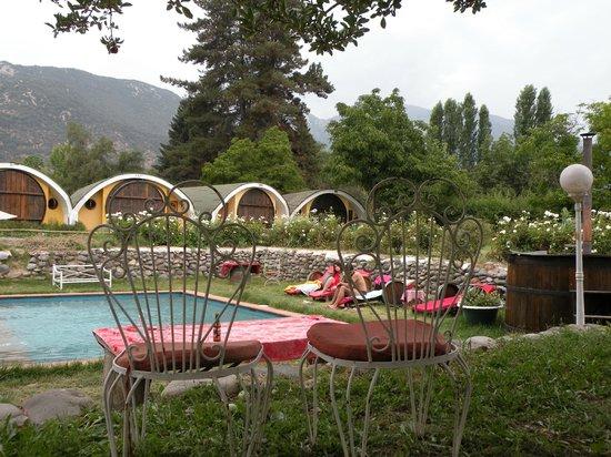 La Calma de Rita : Zona de entretenimiento: piscina y Hot Tub