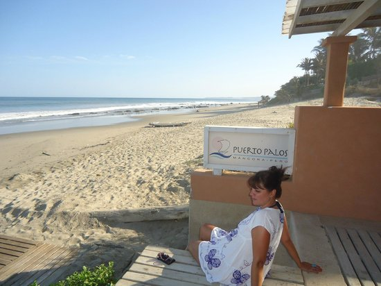 Puerto Palos: Entrada a la habitación y acceso a la playa directo