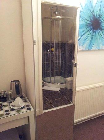 Dockside Hotel: View in wardrobe mirror door
