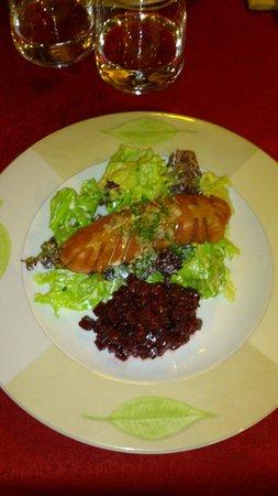 Winstub S'kaechele : Salade et cervella grillée