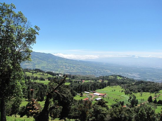 Poas Volcano: Paysage en montant au volca