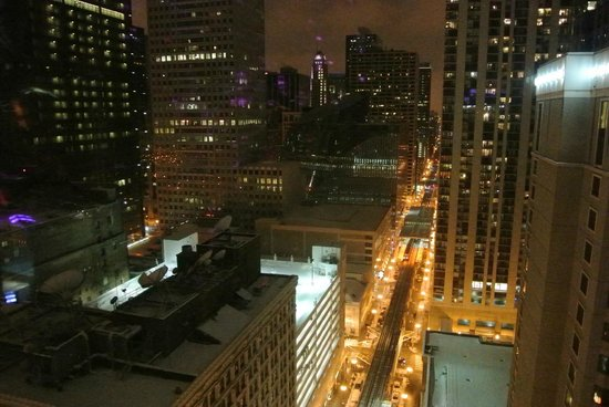 theWit - A DoubleTree by Hilton: View at night from the paramount suite!