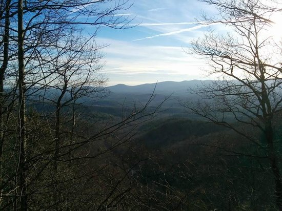 Amicalola Falls State Park : Mountains across from Falls...