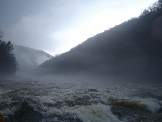 Wilderness Voyageurs: Cool lighting on the Cheat River, Albright, West Virginia