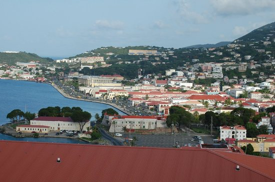 A view of Charlotte Amalie from Bluebeard's Tower