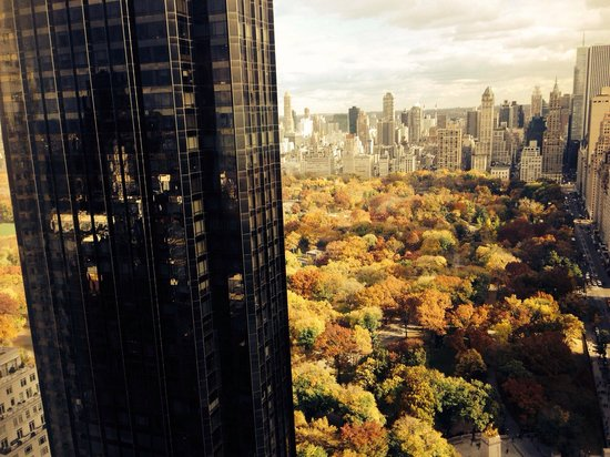 Mandarin Oriental, New York: View from room on one of the higher floors facing central park. Pity that its being obstructed b