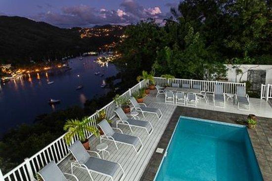 The Inn On The Bay: The Inn overlooking Marigot Bay
