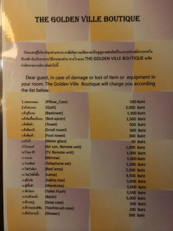 The Golden Ville: Broken item costings