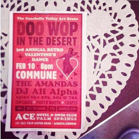 Ace Hotel and Swim Club: Ace Hotel vday party invite