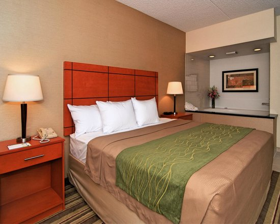 Comfort Inn Metro Airport : Deluxe King with whirlpool