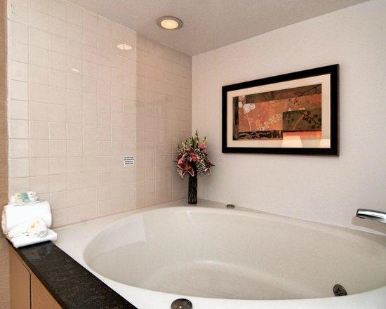 Comfort Inn Metro Airport: Relaxing whirlpool tub