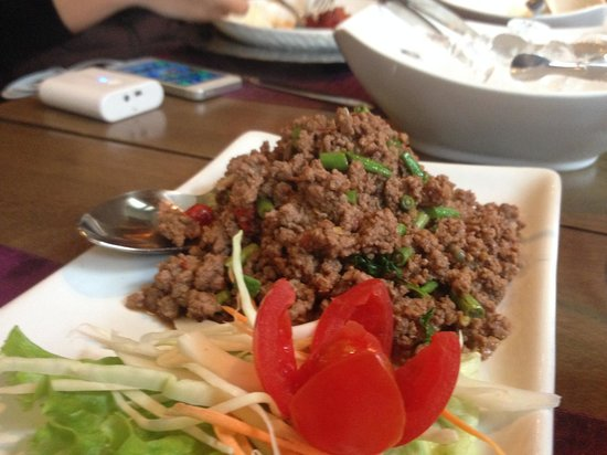 ThaiSquare : Authentic Thai Spicy Minced Beef Basil