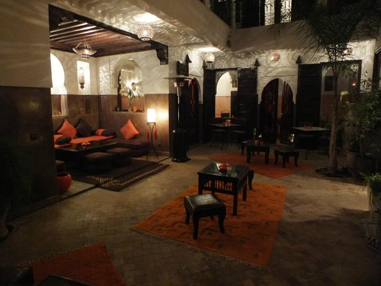 Riad Aya : The Courtyard, clean cool and a great place to unwind in the evening.