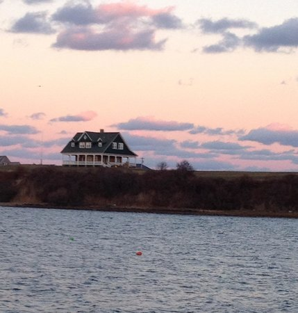 The Sullivan House as seen across The Great Salt Pond, Block Island