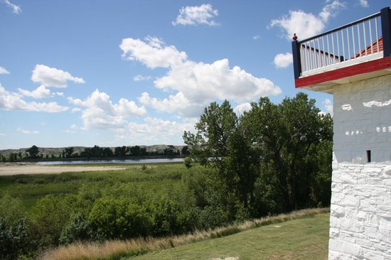 Fort Union Trading Post: Blockhouse and Missouri River