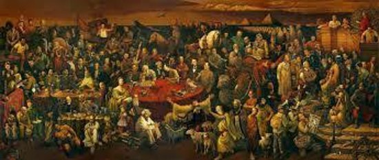 marmaris turkish restaurant: The painting at the end of the room