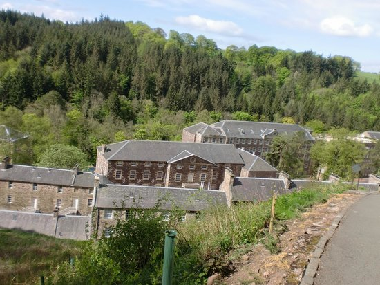 New Lanark World Heritage Village: Teilansicht von New Lanark