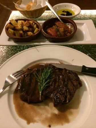 Restaurant District 5: Grilled Rib eye with Potatoes and Eggplant
