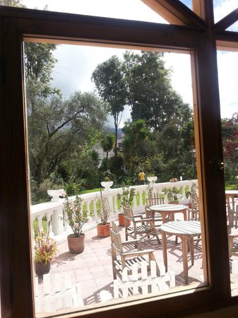 La Posada del Quinde: View from Dining Room