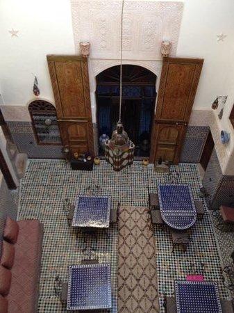 Riad Fes Aicha : vue de notre chambre