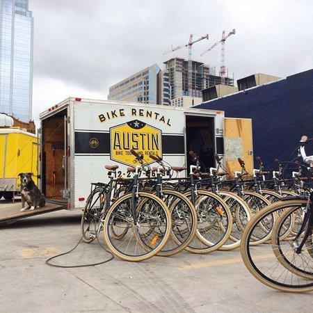 Austin Bike Tours and Rentals: Our convenient downtown location.
