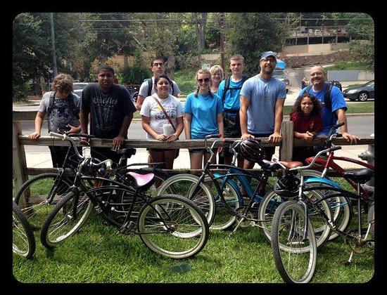 Austin Bike Tours and Rentals: Group tour with a youth group from Killeen.