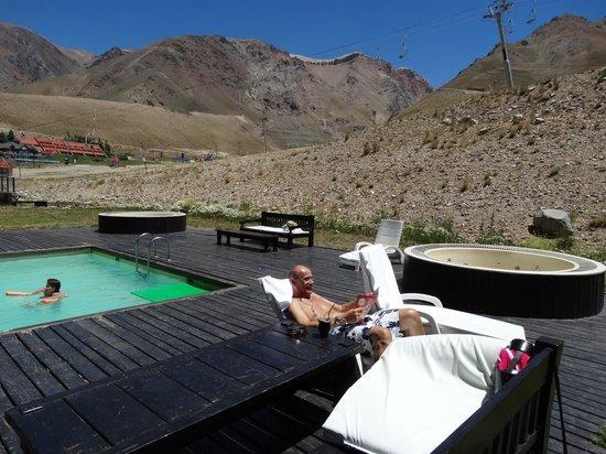 Virgo Hotel and Spa - Las Lenas: Fabulosa pileta mitad al aire libre