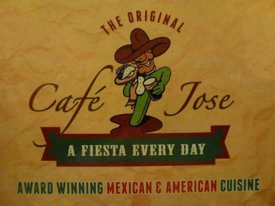 Cafe Jose Restaurant: The Menu Cover Page