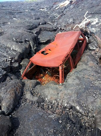 Car consumed by lava on Hawaii Volcano Tours - Picture of Hawaii Volcano Tours, Hilo - TripAdvisor