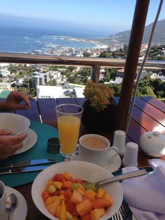 Auberge du Cap: More breakfast on the terrace.