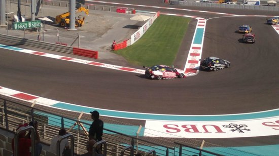 Yas Marina Circuit: Our view of the track!