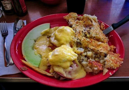 Sam's No. 3: Eggs Benedict with potatoes