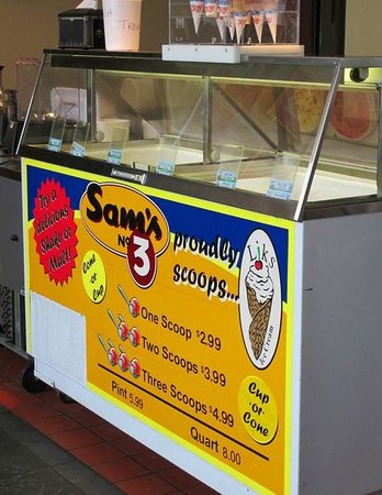 Sam's No. 3: Ice cream cones sold separately