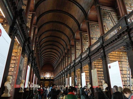The Book of Kells and the Old Library Exhibition: Library at Trinity College
