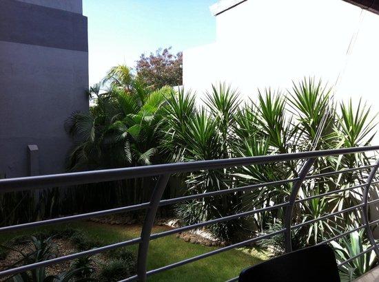 Hotel Brandt Ejecutivo Colonial Los Robles: Jardín del hotel