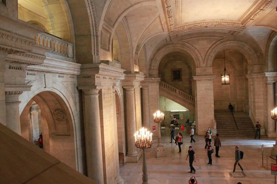 New York Public Library : The grand hall