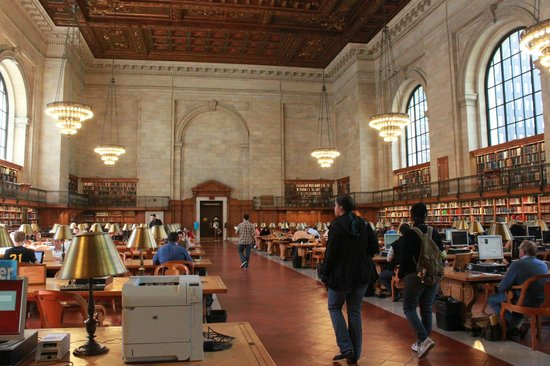 New York Public Library : Reading room