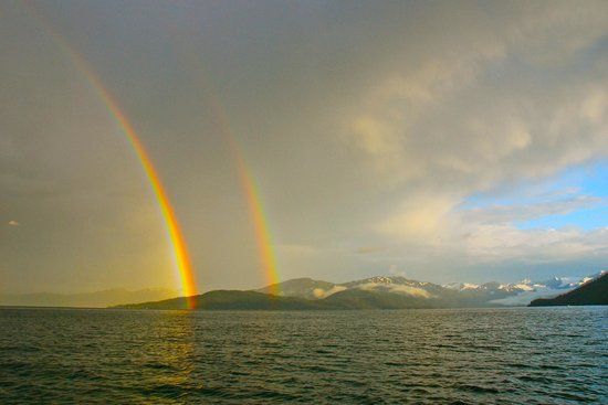 26 Glacier Cruise by Phillips Cruises and Tours : Double rainbow in Prince William Sound - Photo: Bill R.