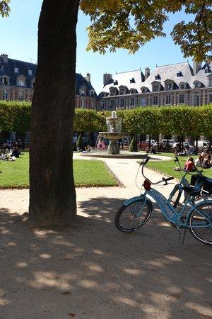 Blue Fox Travel: Blue Bikes at the Place de Vosges