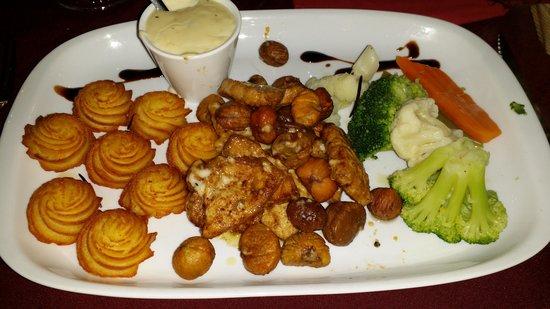 Restaurante Adega Dom Pipas: Lombo de porco con castanas