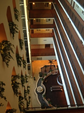 Embassy Suites by Hilton Tampa - Downtown Convention Center : Over looking the balcony