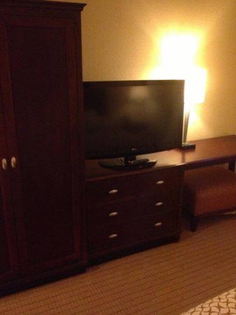 Embassy Suites by Hilton Tampa - Downtown Convention Center: Bed Room TV and furniture.