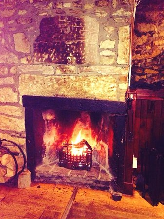 The Muirs Inn: Cozy log burning fire to get you warm while having a drink at the bar