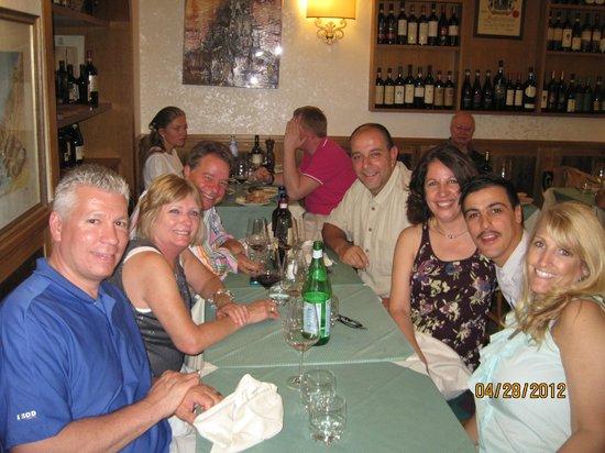 Hostaria Da Pietro: Fun with our waiter