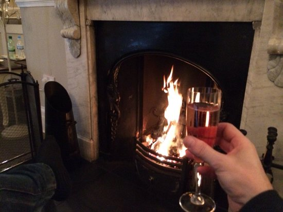 The Castle House : Toasting by the fire