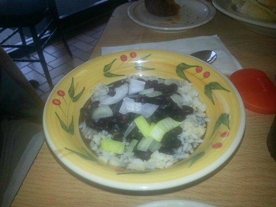Manolitos Cubans Plus: Black Beans & Rice (with onion)