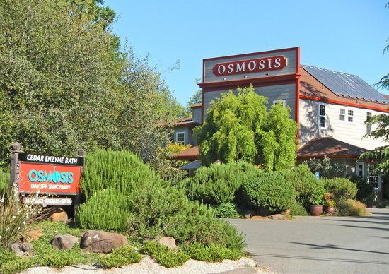 Osmosis Day Spa Sanctuary: Easy to find in the Historic Village of Freestone