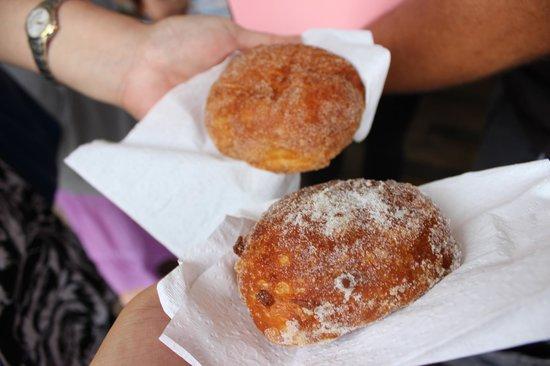 Hawaii Food Tours: Malasada - soft doughnut coated with sugar/cinnamon
