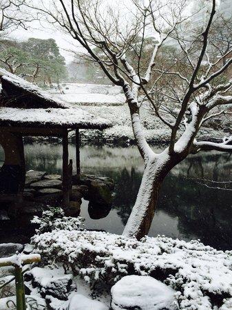 Happoen Garden: 雪の庭園
